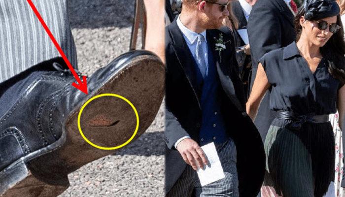Prens Harry'nin ayakkabısı patlak
