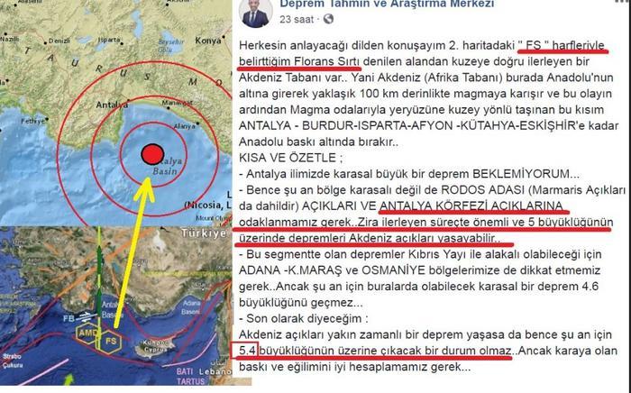 Depremi 24 saat önceden bildi