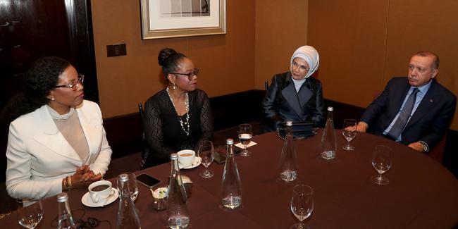 Cumhurbaşkanı Erdoğan, Malcolm X'in kızlarını kabul etti