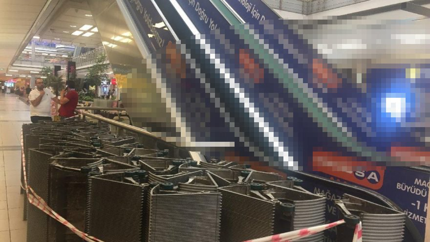 Metrocity AVM'nin yürüyen merdivenine haciz geldi!