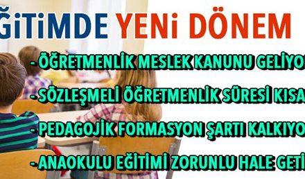 Cumhurbaşkanı Erdoğan: Pedagojik formasyon şartı kalkacak (Eğitimde 2023 vizyon belgesi)