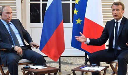 Macron, Putin ile görüştü