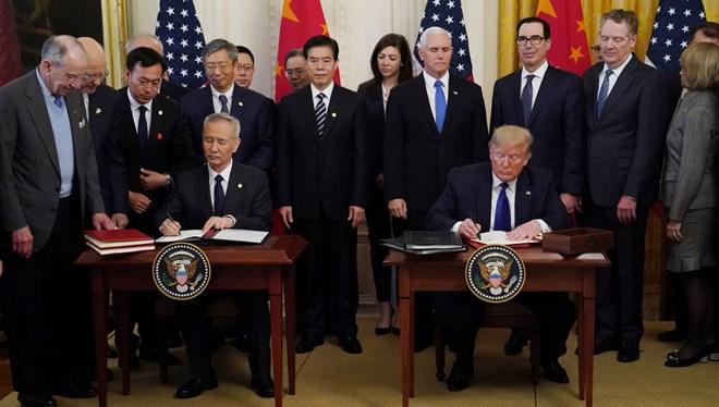 ABD-Çin ticaret savaşını bitiren imza