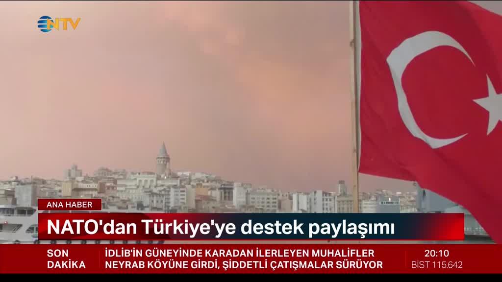 NATO'dan Türkiye'ye destek paylaşımı