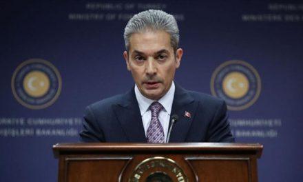 """Dışişleri Sözcüsü Aksoy'dan Kıbrıs'ta """"siyasi eşitlik"""" vurgusu"""