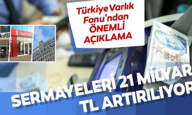 Türkiye Varlık Fonu'ndan kamu bankalarının sermayelerine ilişkin açıklama