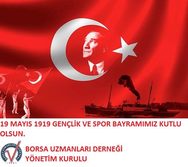 19 MAYIS 1919 GENÇLİK VER SPOR BAYRAMINIZ KUTLU OLSUN.